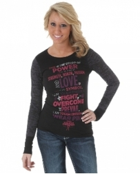 Wrangler® Ladies' Tough Enough Burnout Top