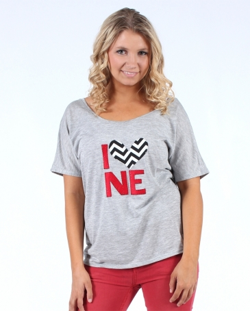 H. Flynn® Ladies' I Heart NE Dolman Top