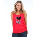 H. Flynn® Ladies' I Heart NE Red Tank Top