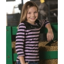 Cruel Girl® Girls' Stripes and Sequins 3/4 Top