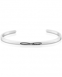 MantraBand® Ladies' Infinite Love Silver Band