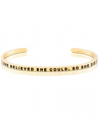 MantraBand® Ladies' She Is Fierce Gold Band