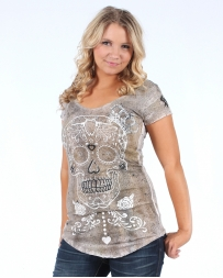 Velvet Stone® Ladies' Sugar Skull Top