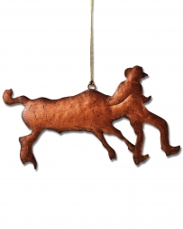 Montana Lifestyles® Copper Steer Wrestler Ornament