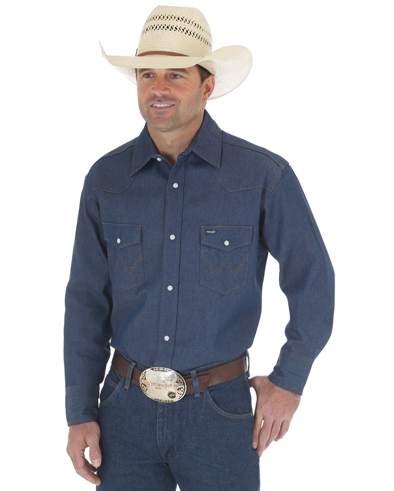 e3ea193420 Wrangler® Men s Western Work Shirts - Solids - Big and Tall - Fort Brands