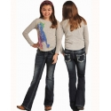 Rock and Roll Cowgirl® Girls' Boot Cut Jeans