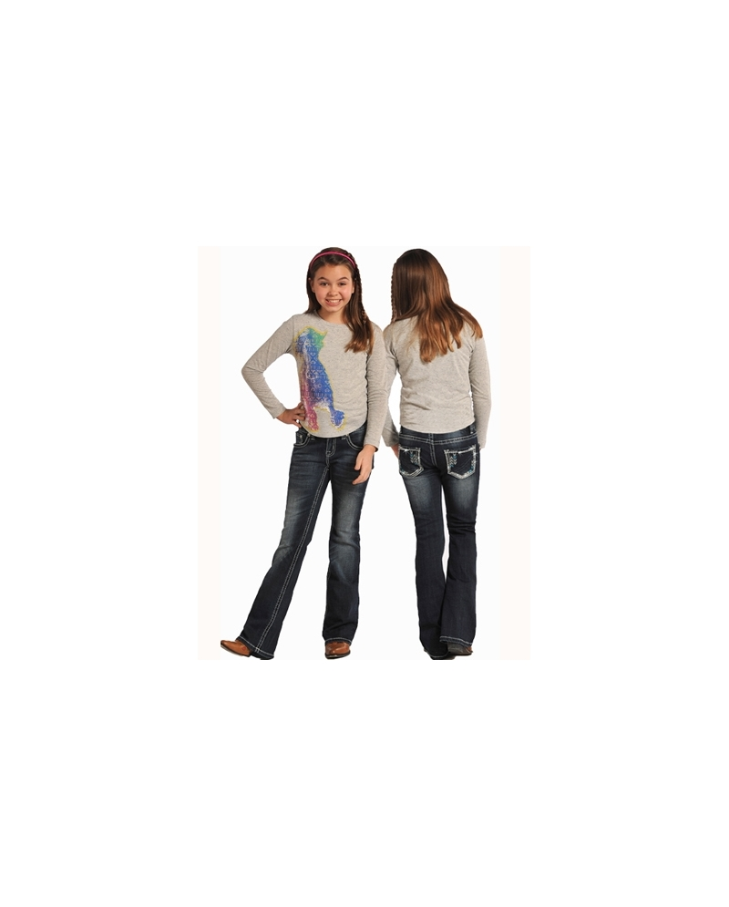 Rock and Roll Cowgirl® Girls' Boot Cut Jeans - Fort Brands