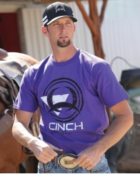 Cinch® Men's Purple Screen Print Tee