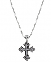 Rock 47™ by Wrangler® Ladies' Vintage Kitsch Rope and Rhinestone Cross Necklace