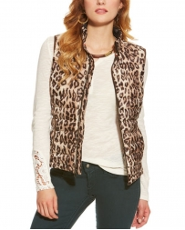 Ariat® Ladies' Cheetah Print Ideal Down Vest