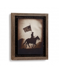 Big Sky Carvers® American Cowboy Barnwood Shadow Box By David Stoecklein