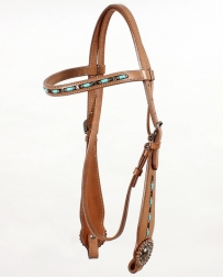 Top Hand Tack® Brow Band Bridle With Turquoise Beading
