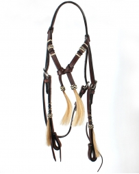 Top Hand Tack® Brow Band Headstall With Rawhide Braid
