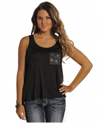 Panhandle® Ladies' Black Tank W/ Gem Pocket
