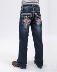 Rodeo Girl® Girls' Pink Flower Jean