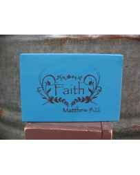 Kender West® Faith Wooden Block