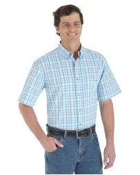 Wrangler® Men's Short Sleeve Easy Care Blue Ridge Shirt - Big/Tall