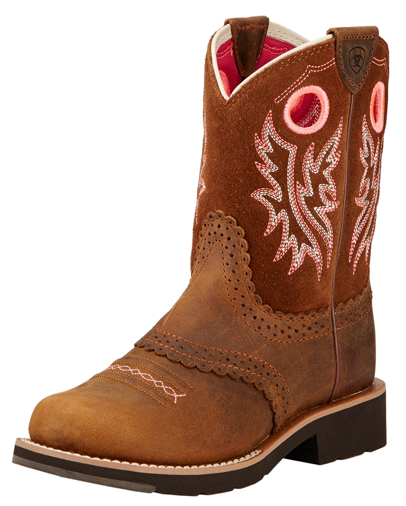 Ariat® Boys' Ariat Kids Fat Baby Round Toe Western Boots - Fort Brands