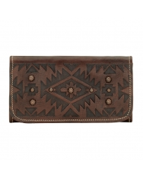 American West® Ladies' Mystic Shawdon Tri-Fold Wallet