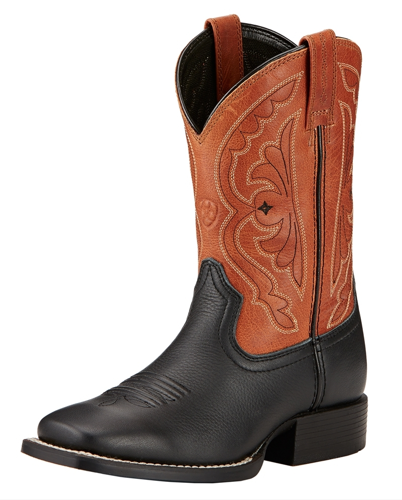 74ec70bb81a Ariat® Boys' Quickdraw Cowboy Square Toe Boots