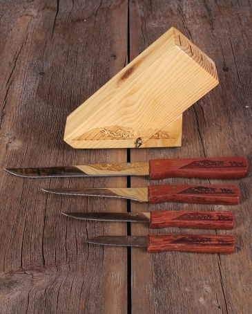 Moss Brothers Inc.® 5 pc. Carving Knife Set Running Horses