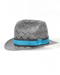 American Hat Company® Fedora W/ Turquoise Bow
