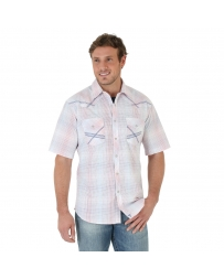 Wrangler® 20X® Men's Short Sleeve Plaid Shirt - Tall