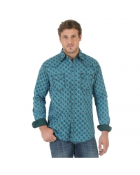 Wrangler® 20X® Men's Block Print Long Sleeve Shirt - Tall