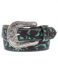 Ariat® Girls' Brown w/Turquoise Overlay Belt