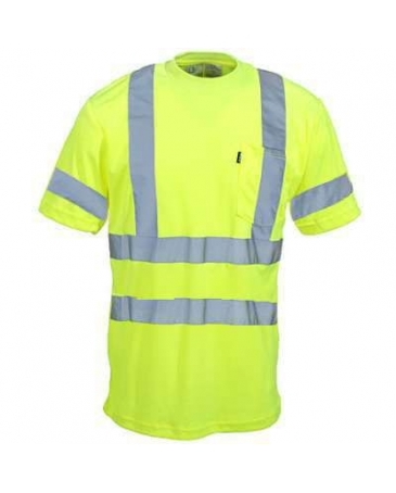 Key men 39 s hi vis shirt with reflective tape fort brands for Hi vis shirts with reflective tape