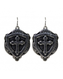Gypsy Soule® Ladies' Shield w/ Cross Earring