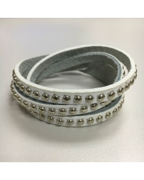 Gypsy Soule® Ladies' White Studded Wrap Bracelet