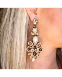 Gypsy Soule® Ladies' Large Flower Earrings