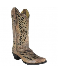 Corral Boots® Ladies' Bronze & Black Sequin Inlay Boots