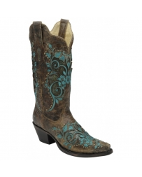 Corral Boots® Ladies' Bronze With Turquoise Studs Boots
