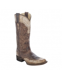 Corral Boots® Ladies' Burnished Taupe & Studs Boots
