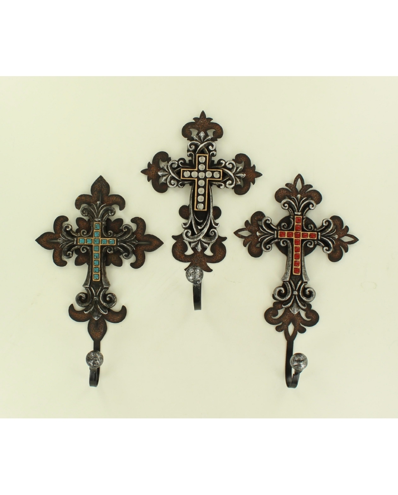 M f western products home decor wall cross hooks fort brands Home decor wall crosses