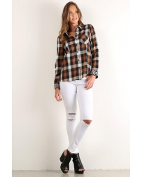 Hem & Thread® Ladies' Classic Plaid Shirt