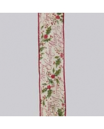 Kurt S. Adler® 2.5 Merry Christmas Ribbon