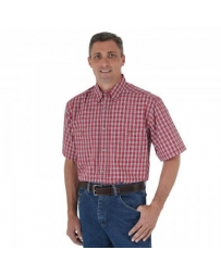 Wrangler® Men's Rugged Wear® Wrinkle Resist Short Sleeve - Big & Tall