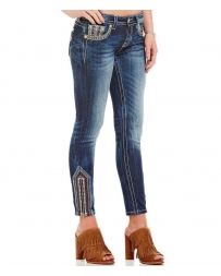 Miss Me® Ladies' Ankle Skinny Jeans