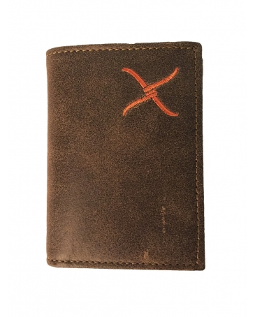 Twisted X Boots® Men's Orange Logo Trifold Wallet