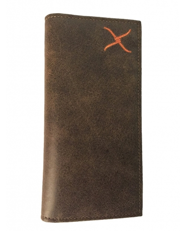 Twisted X Boots® Men's Orange Logo Rodeo Wallet