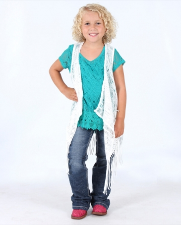 My Michelle® Girls' Waterfall Vest