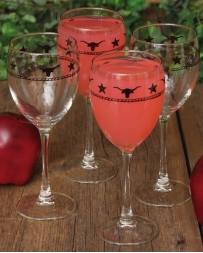 "Western Creation ""Longhorn"" Wine Glass 10 1/2 Oz."