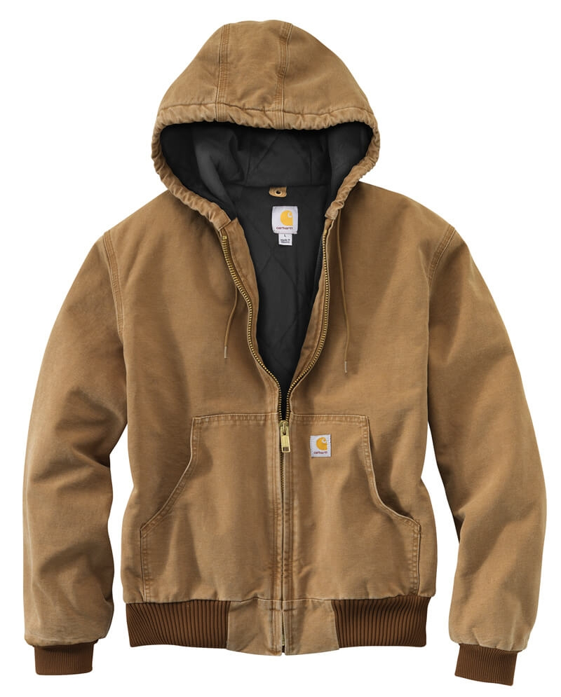 Carhartt 174 Men S Active Hooded Quilted Flannel Lined Jacket