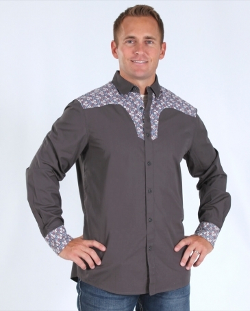 Just 1 Time® Men's Rock N Soul Bubble Yoke Shirt