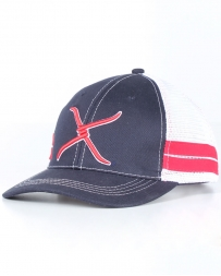 Twisted X Boots® Men's Navy Mesh Snapback Cap