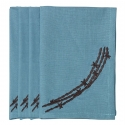 HiEnd Accents® Barbwire Napkin Set of 4