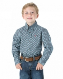 Wrangler® 20X® Boys' Long Sleeve Button Print Shirt